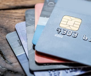 Photo of a stack of credit cards