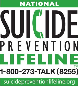 Suicide Prevention Lifeline Graphic