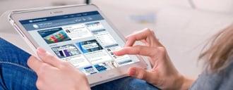 Tablet Website - credit card advice
