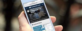 Mobile Website - credit card news
