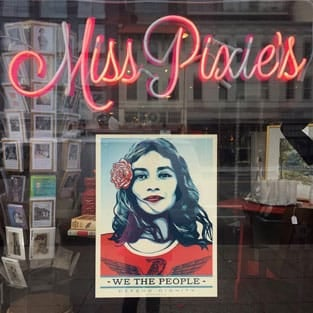 Image in a window at Miss Pixie's