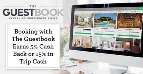 Booking a Boutique Hotel Stay with The Guestbook Earns Users 5% Cash Back or 15% in Trip Cash in Addition to Their Regular Credit Card Travel Rewards