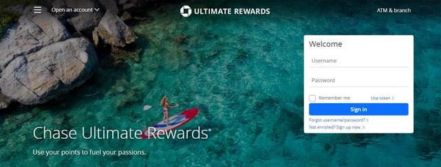Chase Ultimate Rewards Screenshot