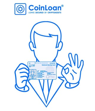 Screenshot of CoinLoan verification page graphic