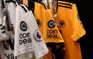CoinDeal Logos on Wolverhampton Jerseys