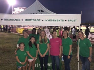 Photo of Countybank associates at a charity event