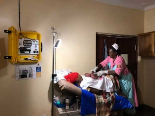 Solar Suitcase in a Clinic