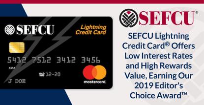 Sefcu Lightning Credit Card Earns Our 2019 Editors Choice Award