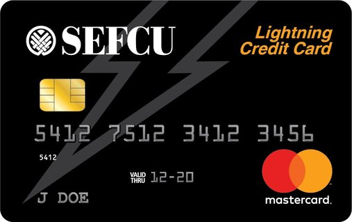 Photo of the SEFCU Lightning Credit Card