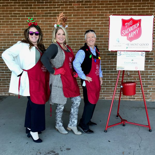 Image of Countybank employees ringing The Salvation Army bell