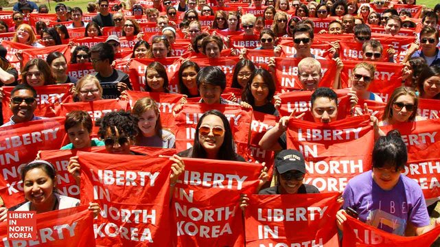 Photo of Liberty in North Korea supporters