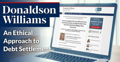 Donaldson Williams Provides An Ethical Approach To Debt Settlement