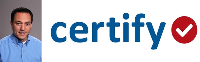 Certify CEO Bob Neveu and Company Logo