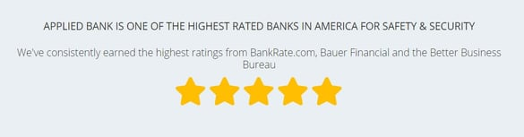 Screenshot from the Applied Bank website