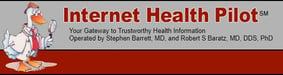 Screenshot of the Internet Health Pilot website