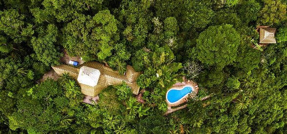 Aerial photo of Lapa Rios Lodge