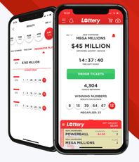 Screenshot of the Lottery.com app