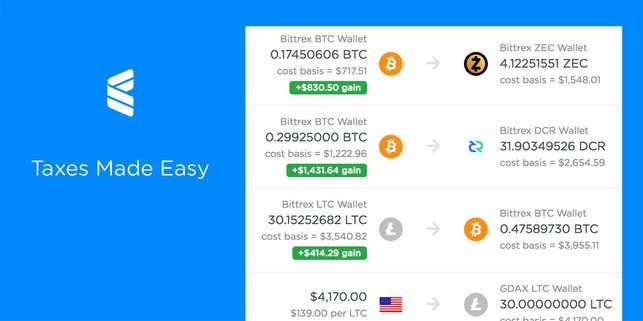 Screenshot of the CoinTracker Tax Service