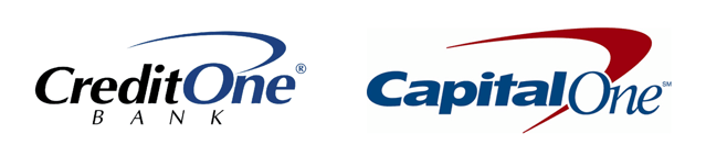 Credit One Bank and Capital One Bank Logos