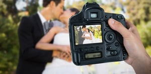 Stock photo of a wedding photographer