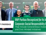 BNP Paribas Recognized for Its Integrated Corporate Social Responsibility Efforts That Include Conscientious Investments and Civic-Minded Initiatives