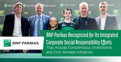 Recognizing Bnp Paribas Corporate Social Responsibility Efforts