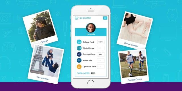 Screenshot of Goalsetter goals interface
