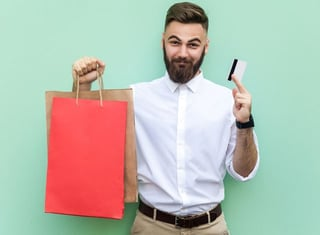 Happy Credit Card Holder