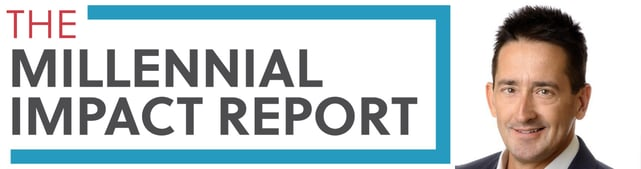 Millennial Impact Report logo and Achieve Managing Partner Clay Williams