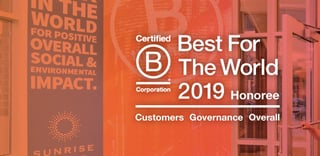 Sunrise Banks Certified B Corporation banner