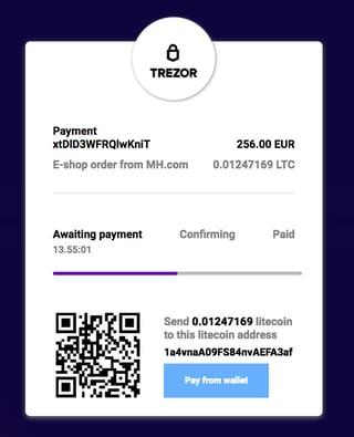 Screenshot of Confirmo platform