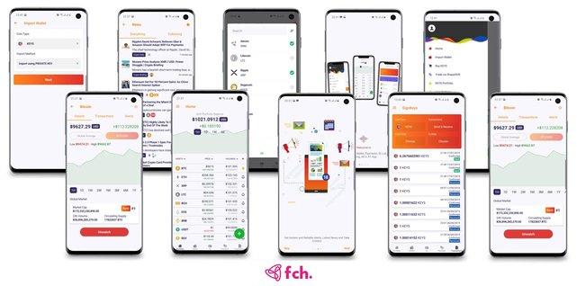 Screenshots of FCH Network on mobile devices
