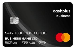 Photo of Cashplus prepaid Mastercard
