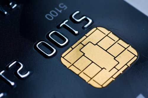 Photo of an EMV Credit Card Chip