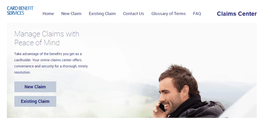 Card Benefit Services Homepage