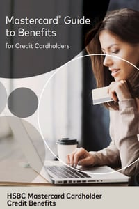 Screenshot of the HSBC Mastercard Guide to Benefits