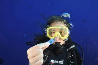 Diver Holding YubiKey