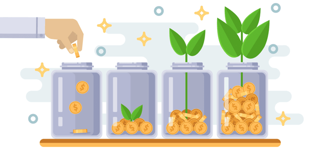 Growing Money Graphic