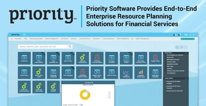 Priority Software Provides End-to-End Enterprise Resource Planning Solutions for Financial Services