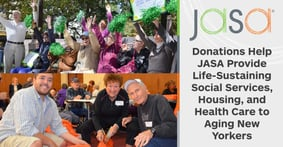 Donations Help JASA Provide Life-Sustaining Social Services, Housing, and Health Care to Aging New Yorkers