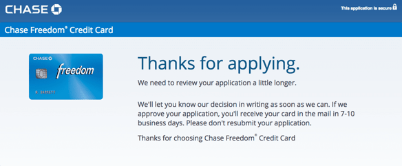 Chase Freedom® Application