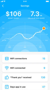 WiFi Map Savings Screenshot