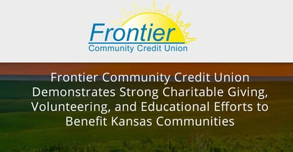 Frontier Community Credit Union Supports Kansas Communities