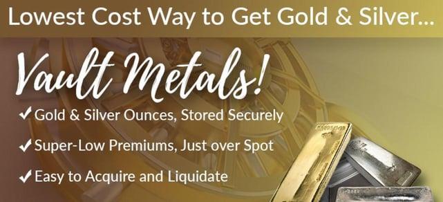 Screenshot from Money Metals Exchange website