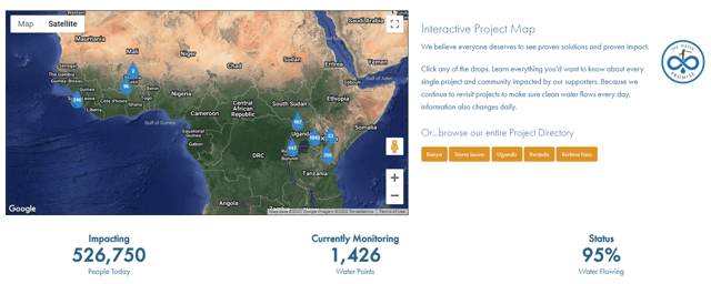 The Water Project Interactive Project Map