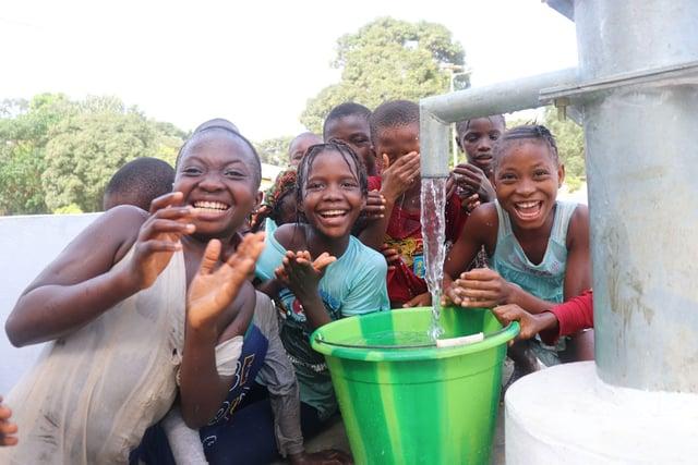 Photo of Children at the Mahera Health Clinic