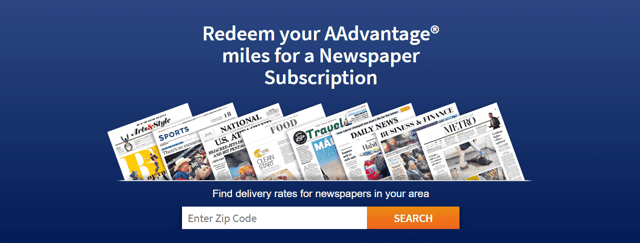 Screenshot of Newspaperrewards.com
