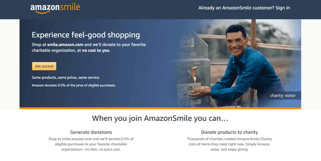 AmazonSmile Screenshot