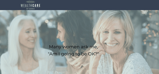 Screenshot from Wealthcare for Women website