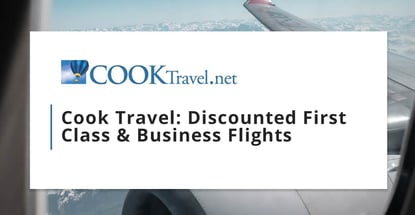 Cook Travel Surfaces Discounted First Class And Business Flights